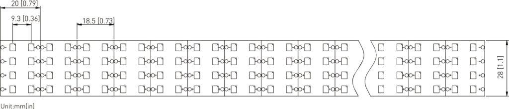 SMD2835 Tape Light High Efficacy 432LEDs 38.88W DC24V