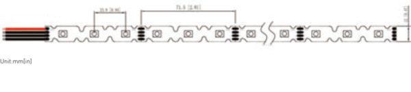 3D LED Strip ZIG ZAG LED Tape Light RGB Tpye