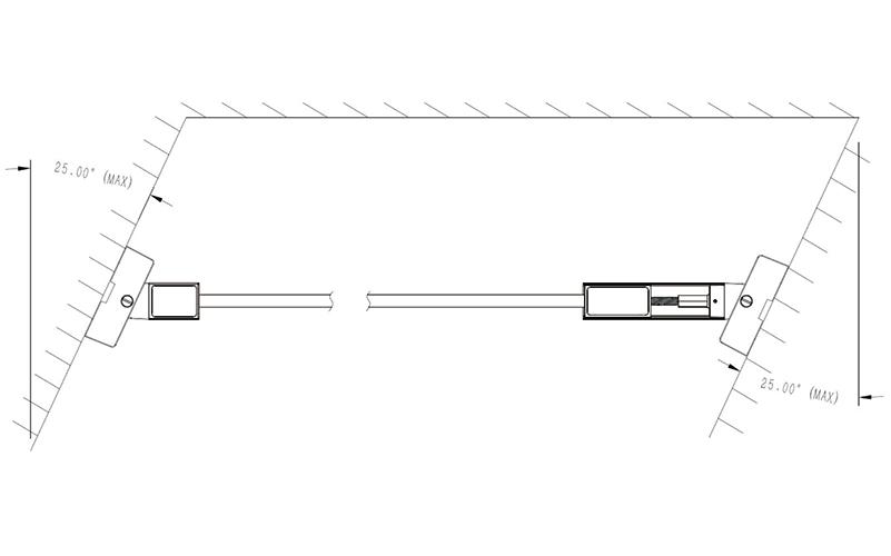 Double sides & opposite direction tilt installation mode