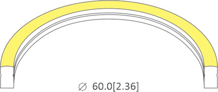 bending diameter of 1017