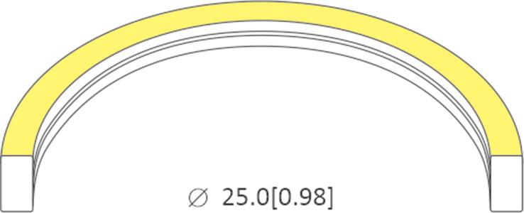 bending diameter of 0410