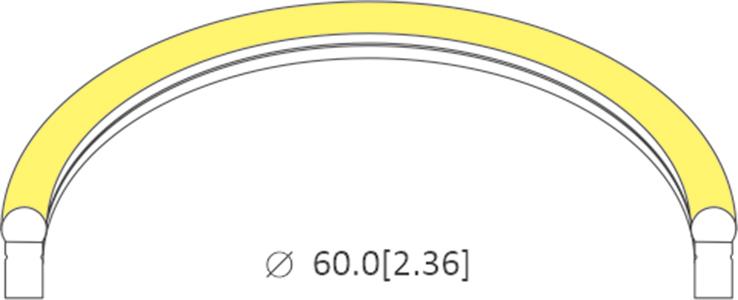 bending diameter of 1025
