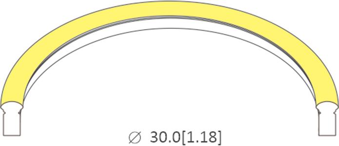 bending diameter of 0615