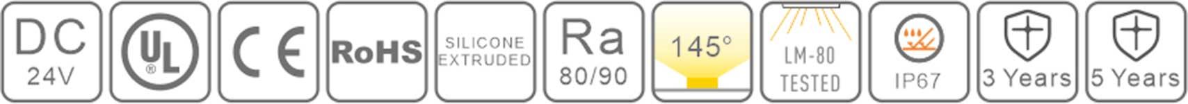 0512 led silicone neon flex-certification