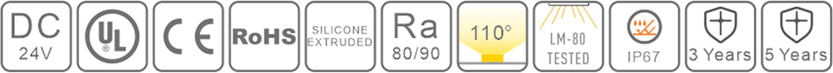 0410 led silicone neon flex-certification