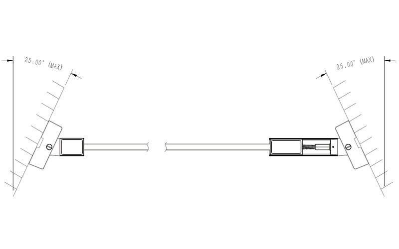 Double sides & same direction installation tilt mode